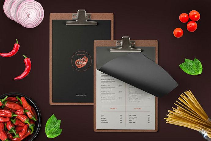 Restaurant Menu + Logo