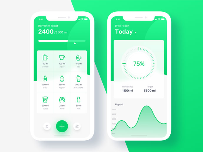 Drink Water Reminder App Concept
