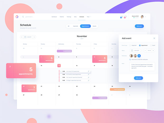 Fit Dashboard / Schedule