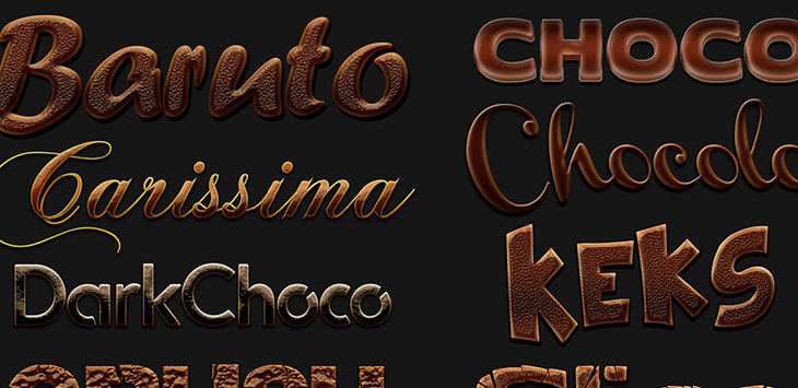 25 Delicious Food & Drink Photoshop Text Effects