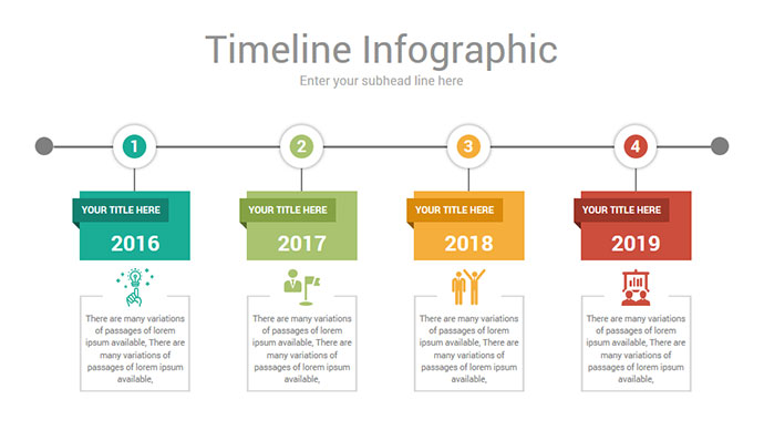 Timeline Infographics PowerPoint Template diagrams