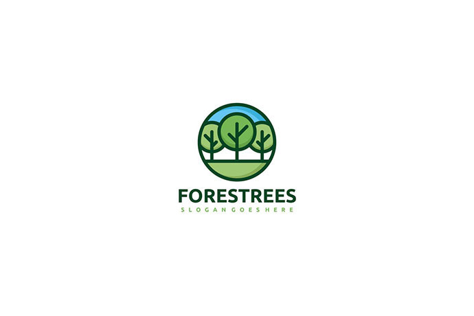 Forest Trees Logo