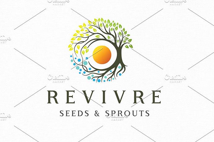 Revivre Logo Template