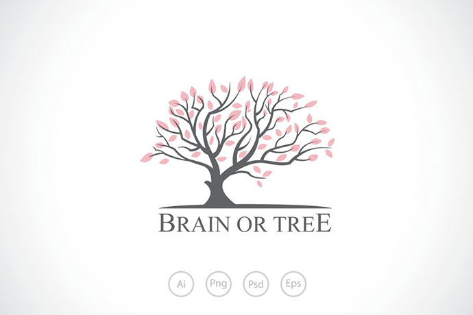 Brain or Tree Logo Template