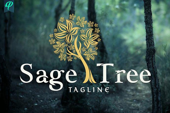 Sage Tree Logo Design