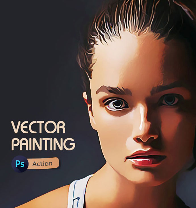 Vector Painting Photoshop Action