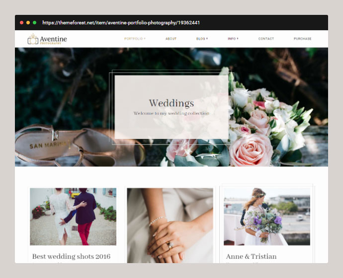 Wedding Photography Portfolio Theme