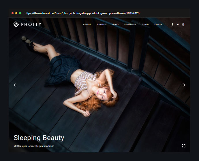 Photography | Photty Photography WordPress for Photography