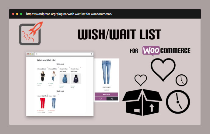 Wishlist and Waitlist for WooCommerce