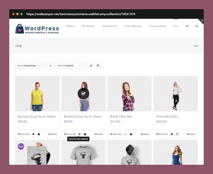 WordPress Wishlist Collection & Bookmark Plugin