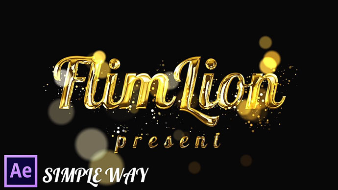 After Effects Tutorial: Gold Particles Text Effects In After Effects