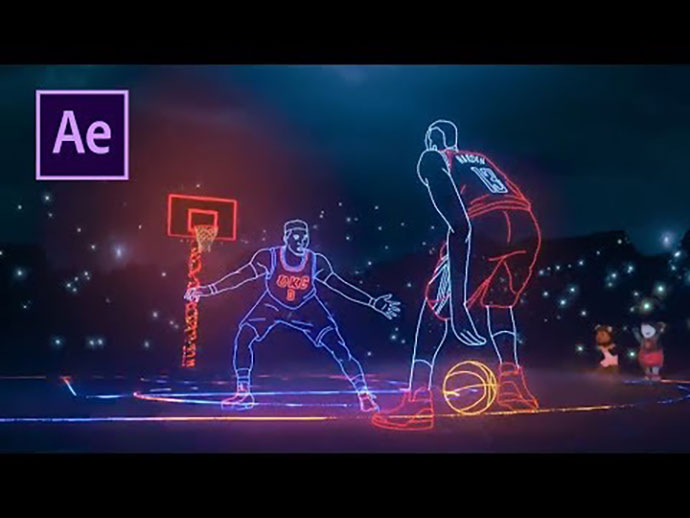 After Effects Tutorial - Nba Lights - Easy!