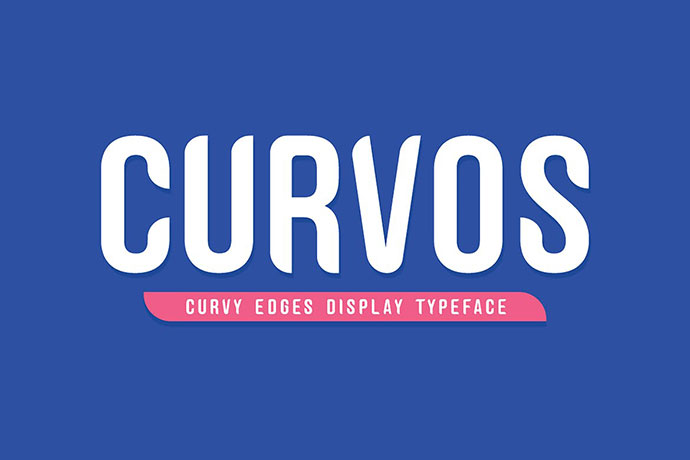 Curvos Display Typeface + Badge