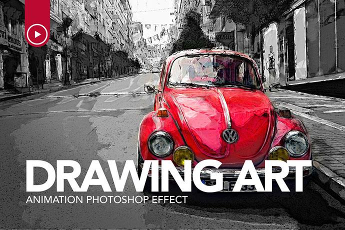 Drawing Art Animation Photoshop Action