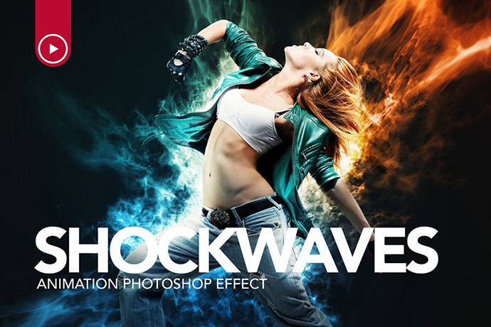 Shockwaves Animation Photoshop Action