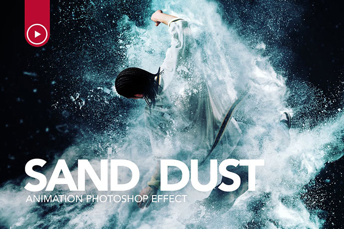 Sand Dust / Powder Explosion Photoshop Action