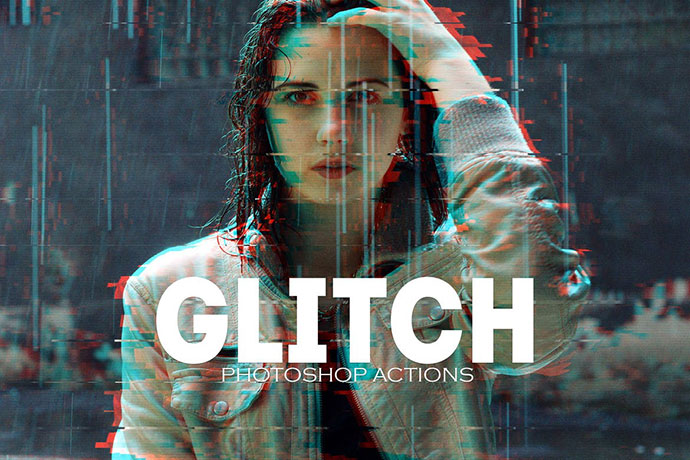 Glitch Photoshop Psd Actions