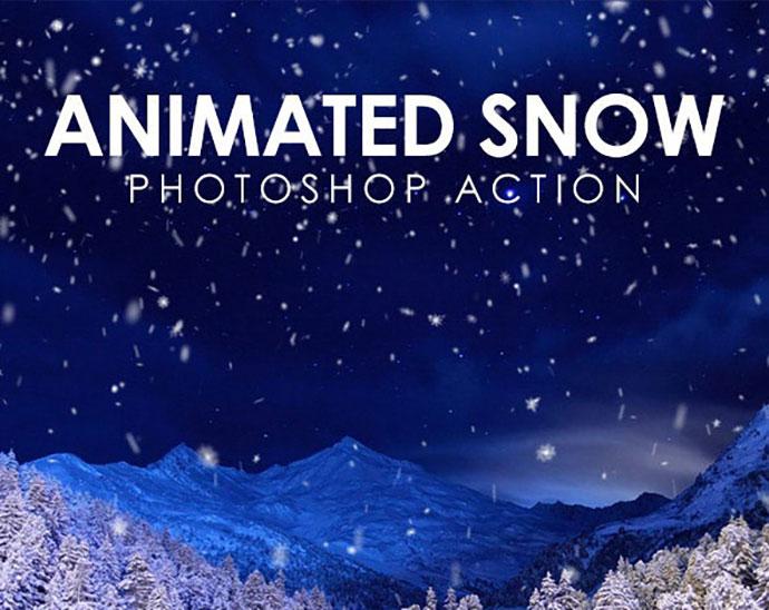 Animated Snow Photoshop Action