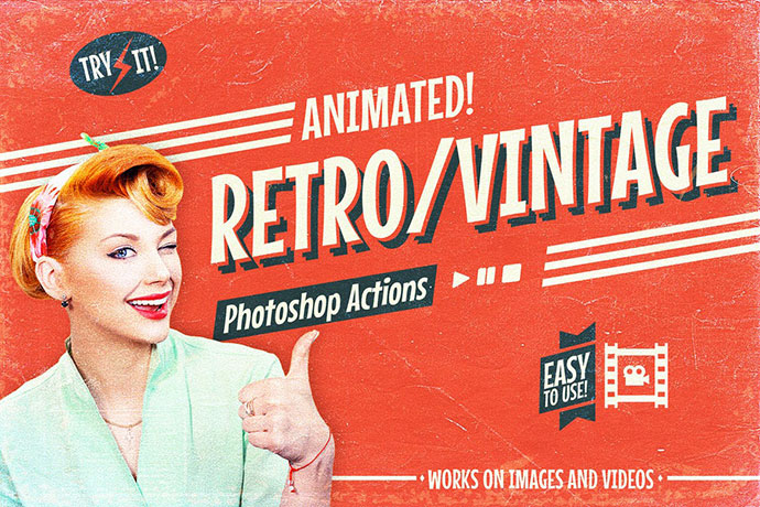 Animated Retro Vintage Film