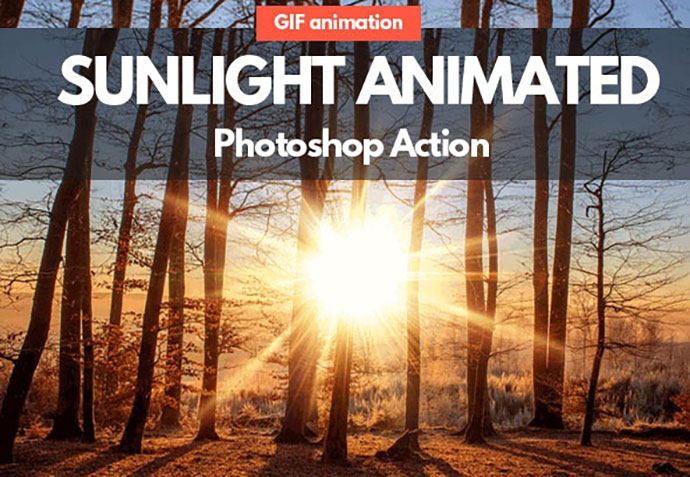 Sunlight Animated GIF Photoshop Action