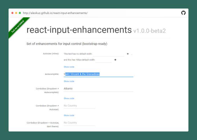 React Input Enhancements