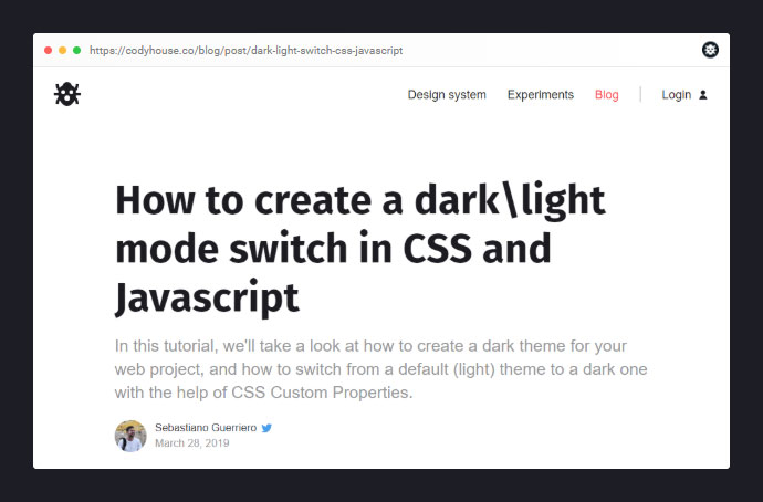 Dark Light Mode Switch