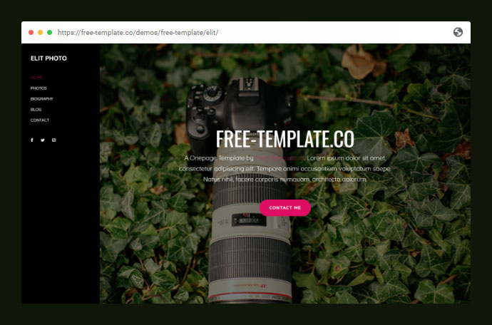 Elit Onepage Free Template