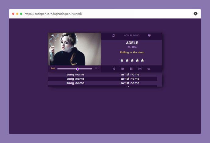 Music Player - CSS