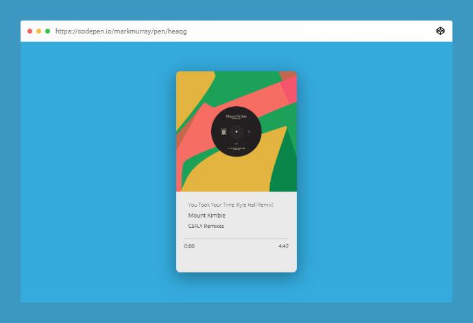 HTML5 Music player design.