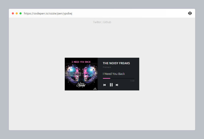 HTML 5 Audio Player.