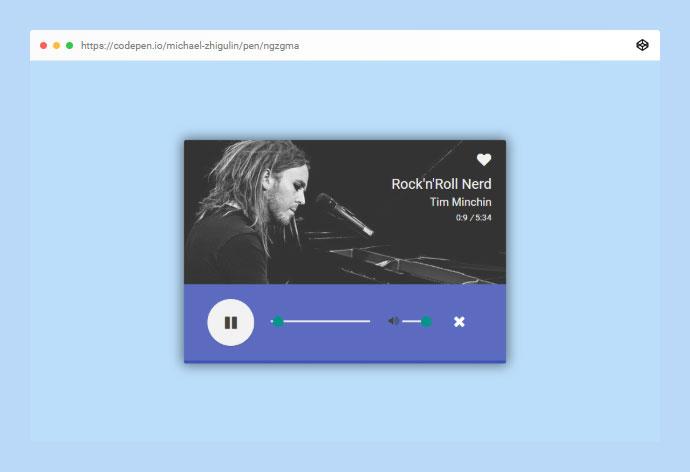 Material Design Ui Audio Player