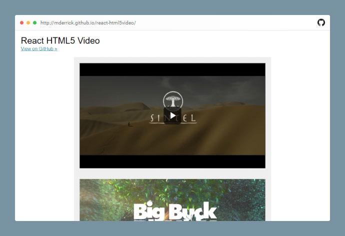 React Html5video