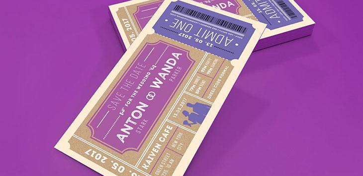 20 Cool Ticket Wedding Invitation Templates Bashooka