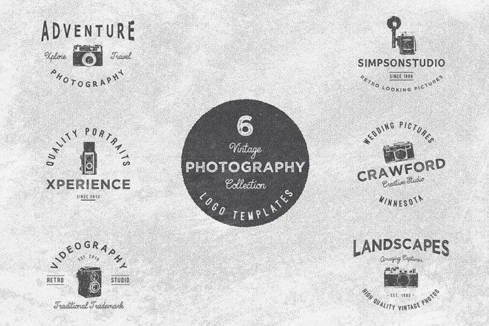 Vintage Photography Logo Collection