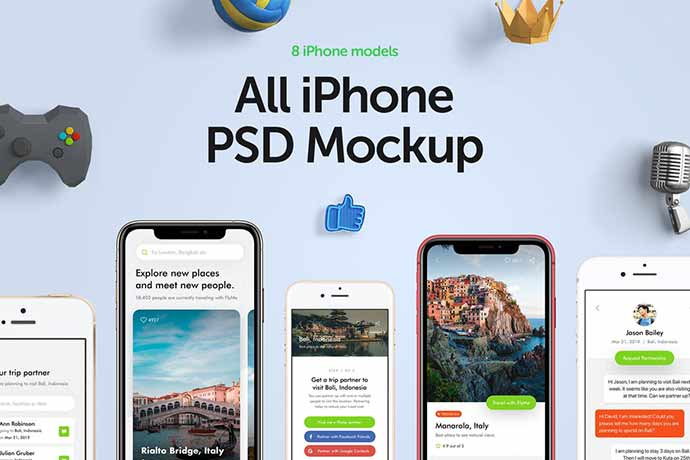 All Iphone Mockup Collection