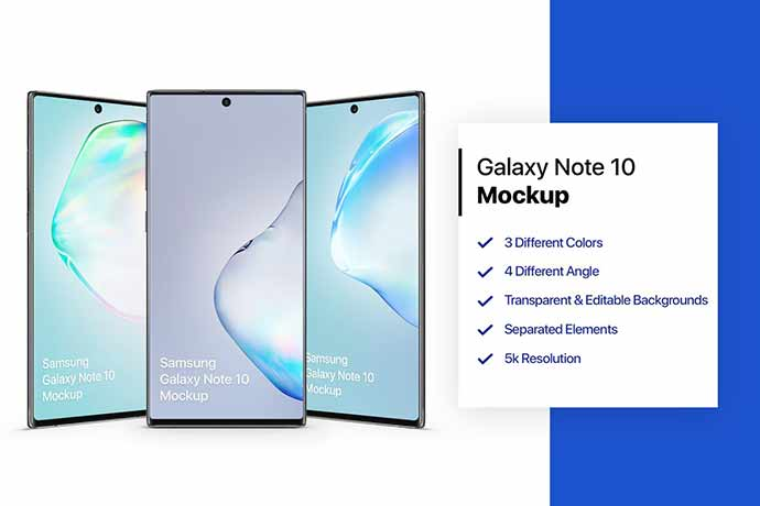 Samsung Galaxy Note 10 Mockup 1.0