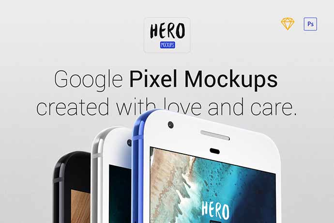 Hero Pixel Mockups