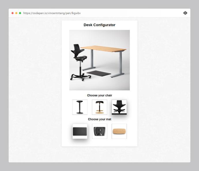 Ecommerce Desk Configurator