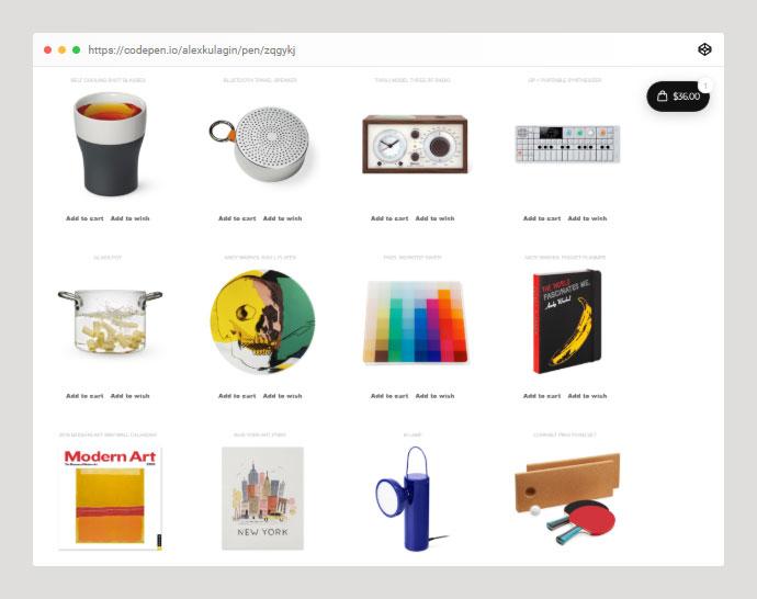 40 Best CodePen Demos for Ecommerce Website – Bashooka