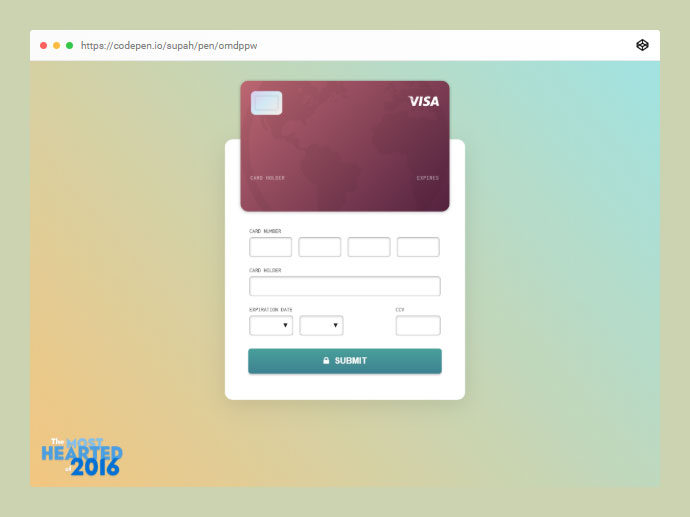 Daily Ui #002: Credit Card Checkout