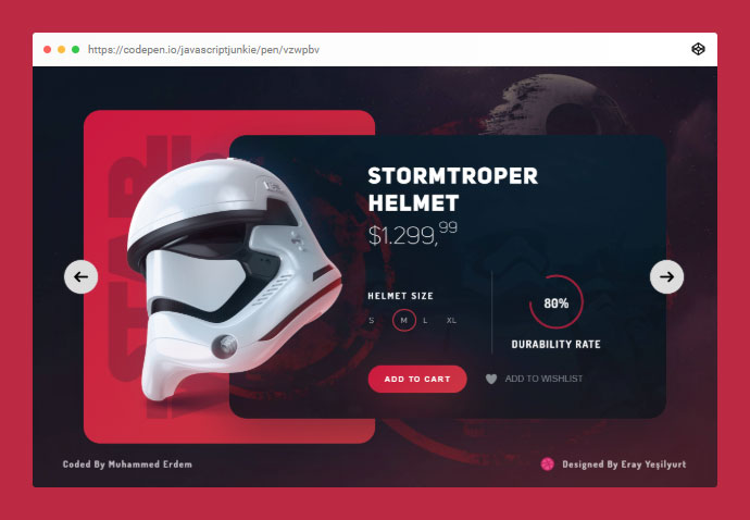 Star Wars Imperial Army's Product Slider!