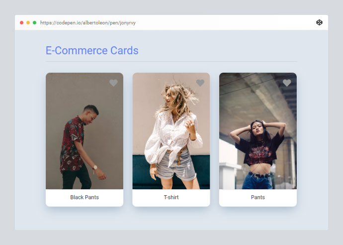 E-commerce Cards