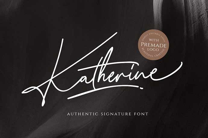 Katherine Script with Premade Logo