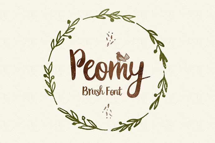 Peomy Extended Font & Illustrations & Logos