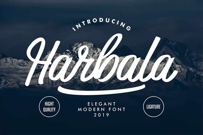 Harbala | Elegant Modern Script Font