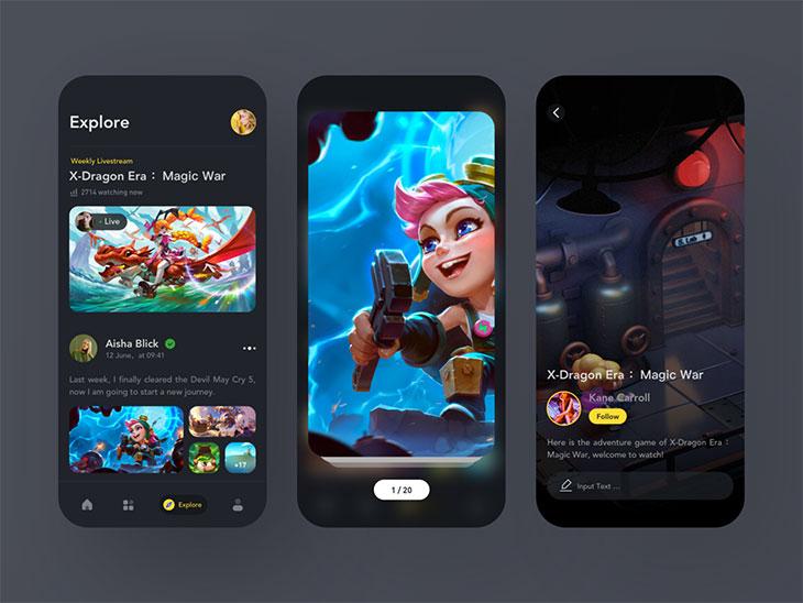 50 Fantastic Film & TV App UI Design Examples