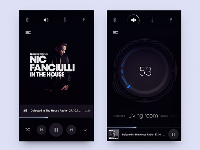 Sound Part Of Smart Home Product Ui