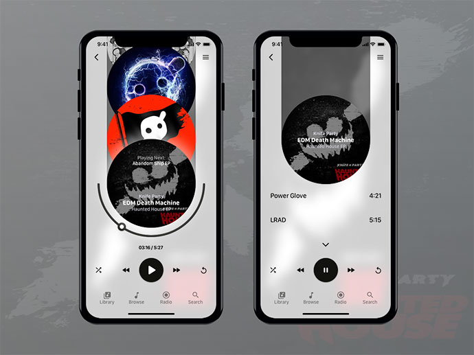 Music Player For Iphone X - Knife Party Edition!