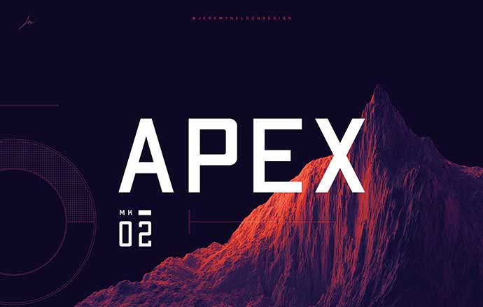 Apex Mk2 | Free Display Typeface