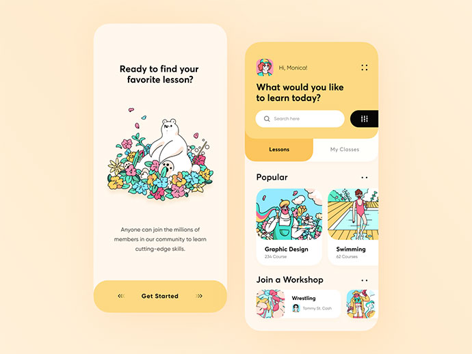 Design Learning Platform App Concept